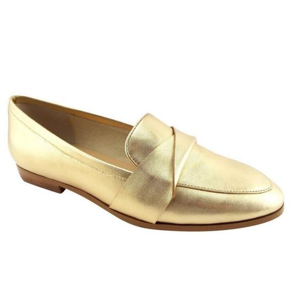 b7e798012cb Kate Spade Satchi Metallic Gold Loafers